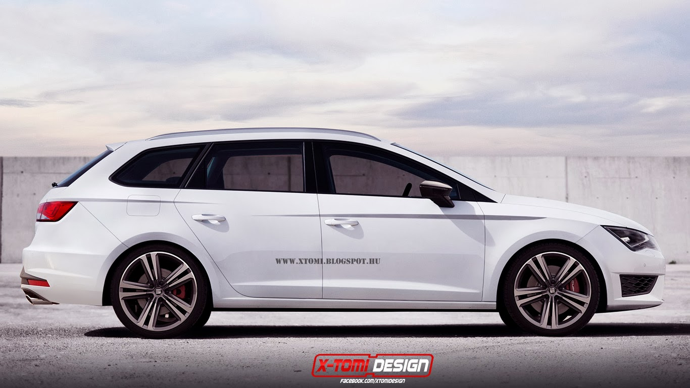 2014 SEAT Leon ST Cupra Rendered as Debut Looms  autoevolution
