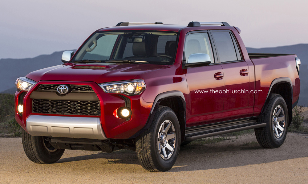 2014 toyota 4runner rendered as pickup autoevolution. Black Bedroom Furniture Sets. Home Design Ideas