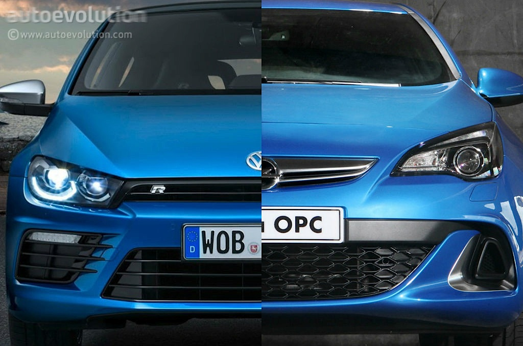 2014 vw scirocco r vs opel astra opc which fwd hot hatch. Black Bedroom Furniture Sets. Home Design Ideas