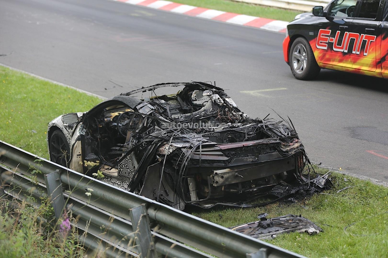 2015 Acura / Honda NSX Prototype Burns to a Crisp on Nurburgring ...