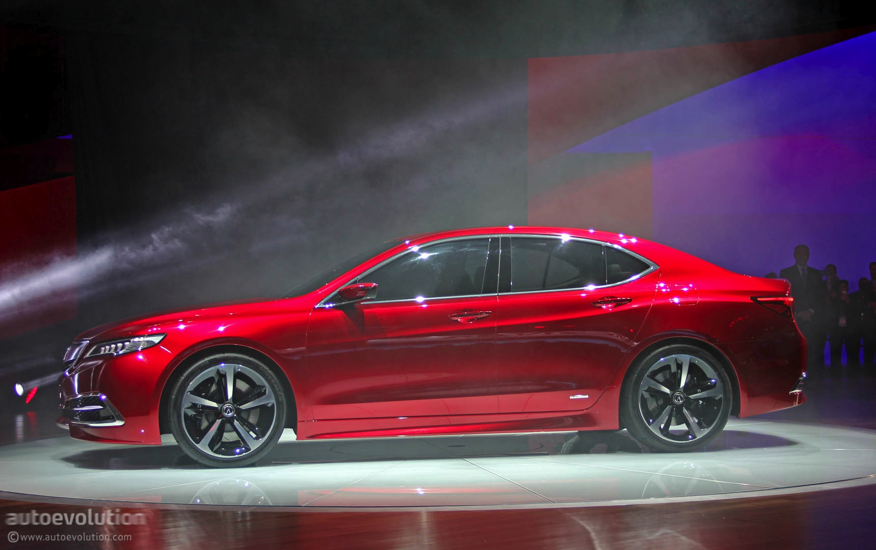 2015 acura tlx prototype unveiled at 2014 detroit show live photos autoevolution. Black Bedroom Furniture Sets. Home Design Ideas