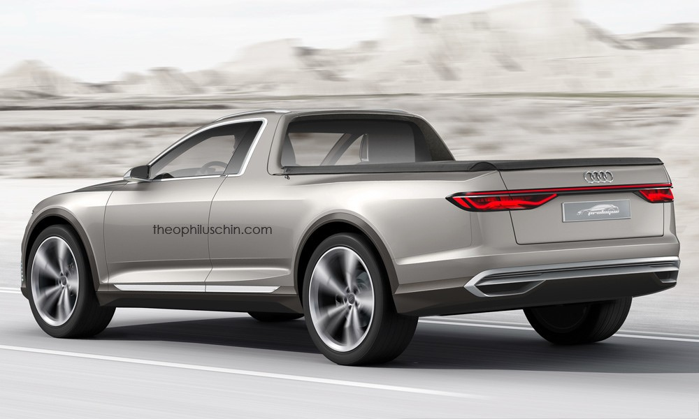 2015 Audi Prologue Allroad Imagined as a Pickup Truck - autoevolution