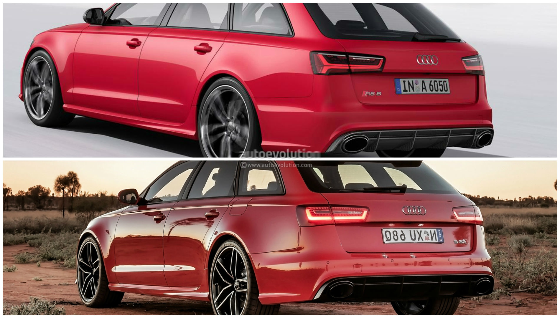 2015 Audi Rs6 Avant Facelift Photo Comparison Subtle