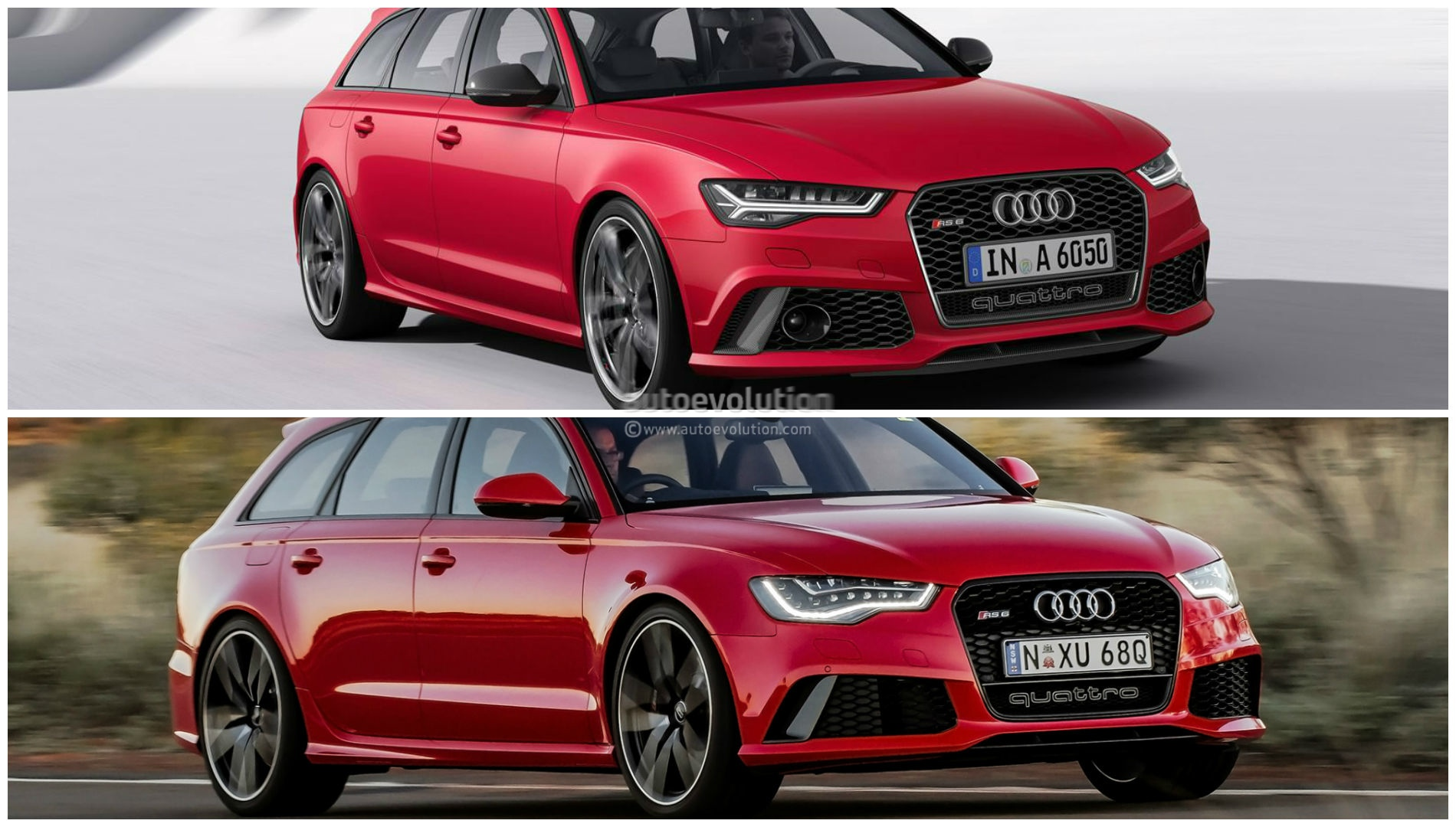 2015 Audi RS6 Avant Facelift Photo Comparison: Subtle Cosmetic Changes - autoevolution