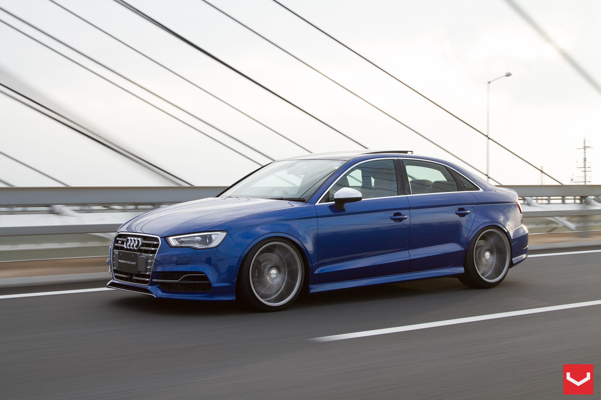 2015 Audi S3 Sedan Stanced On Vossen Wheels Autoevolution