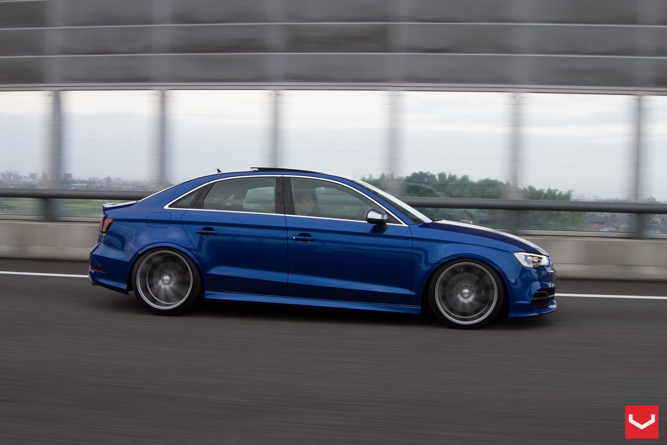 2015 audi s3 sedan stanced on vossen wheels autoevolution