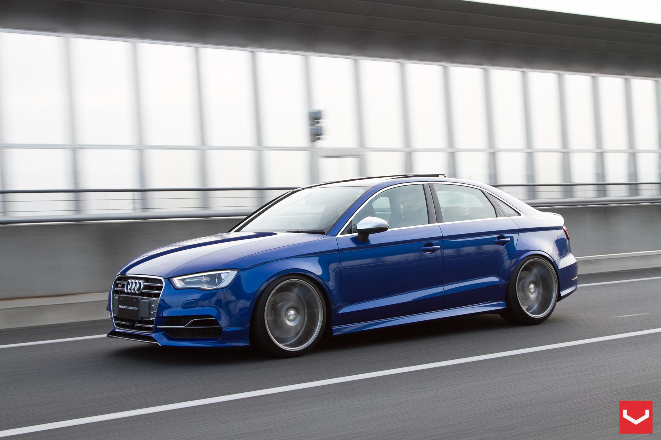 2015 audi s3 sedan stanced on vossen wheels