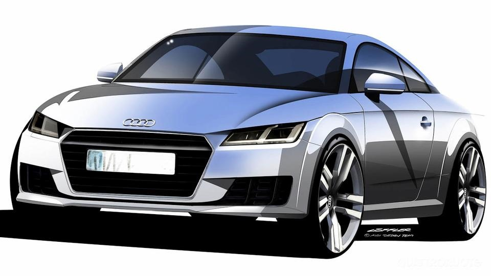 2015 audi tt coupe first picture shows taillights that remain permanently on autoevolution. Black Bedroom Furniture Sets. Home Design Ideas