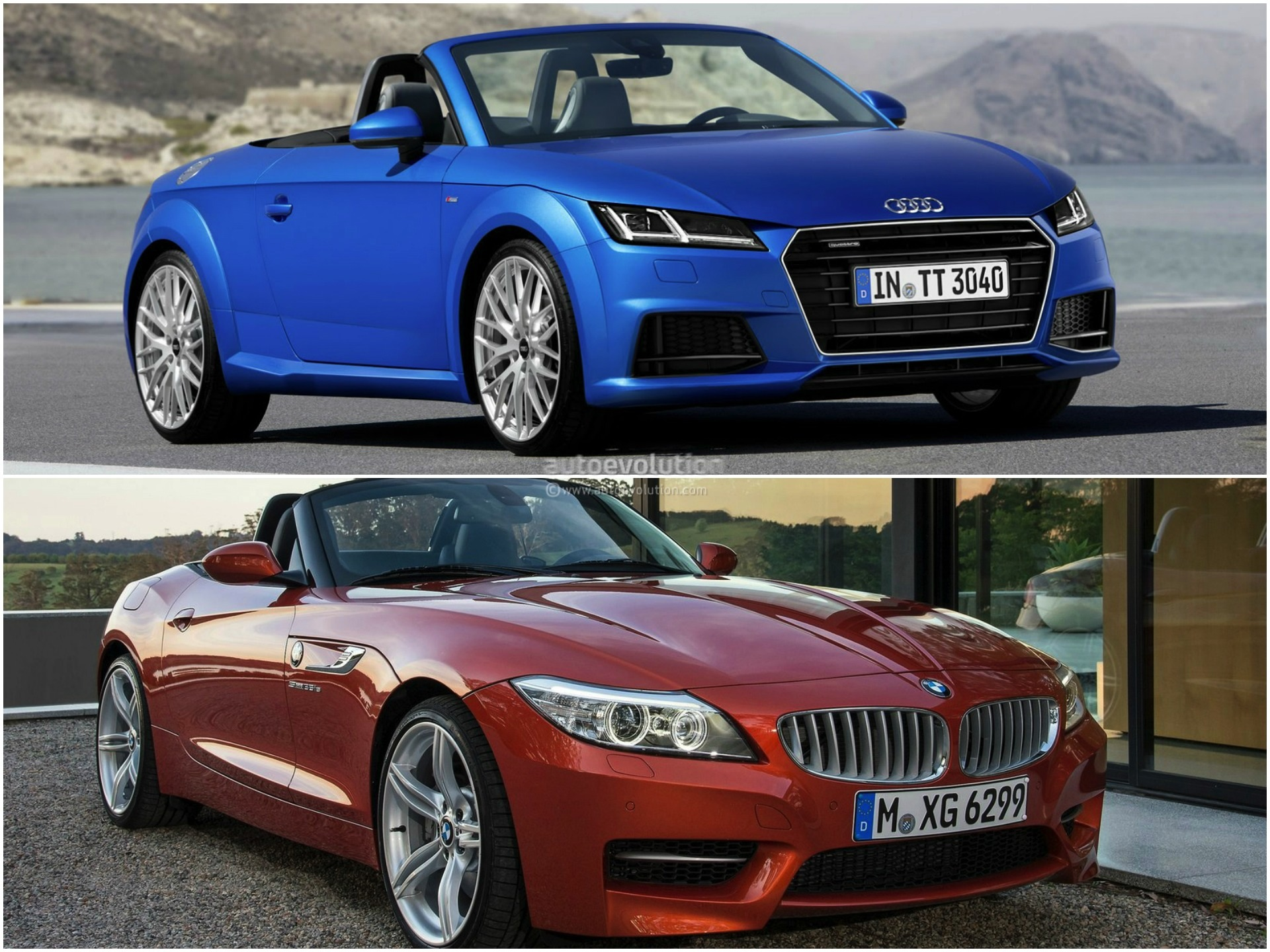 2015 audi tt roadster vs 2014 bmw z4 roadster comparison autoevolution. Black Bedroom Furniture Sets. Home Design Ideas