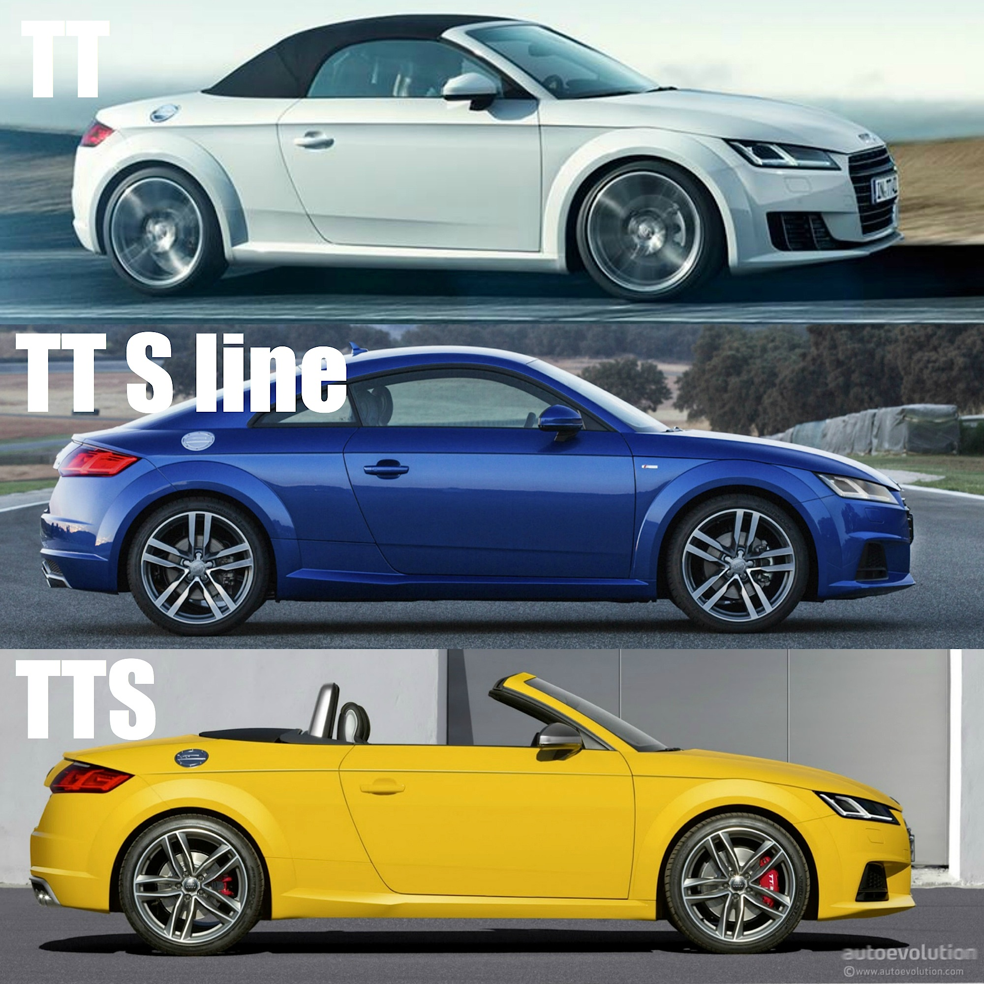 2015 audi tt tt s line and tts how to tell them apart autoevolution. Black Bedroom Furniture Sets. Home Design Ideas