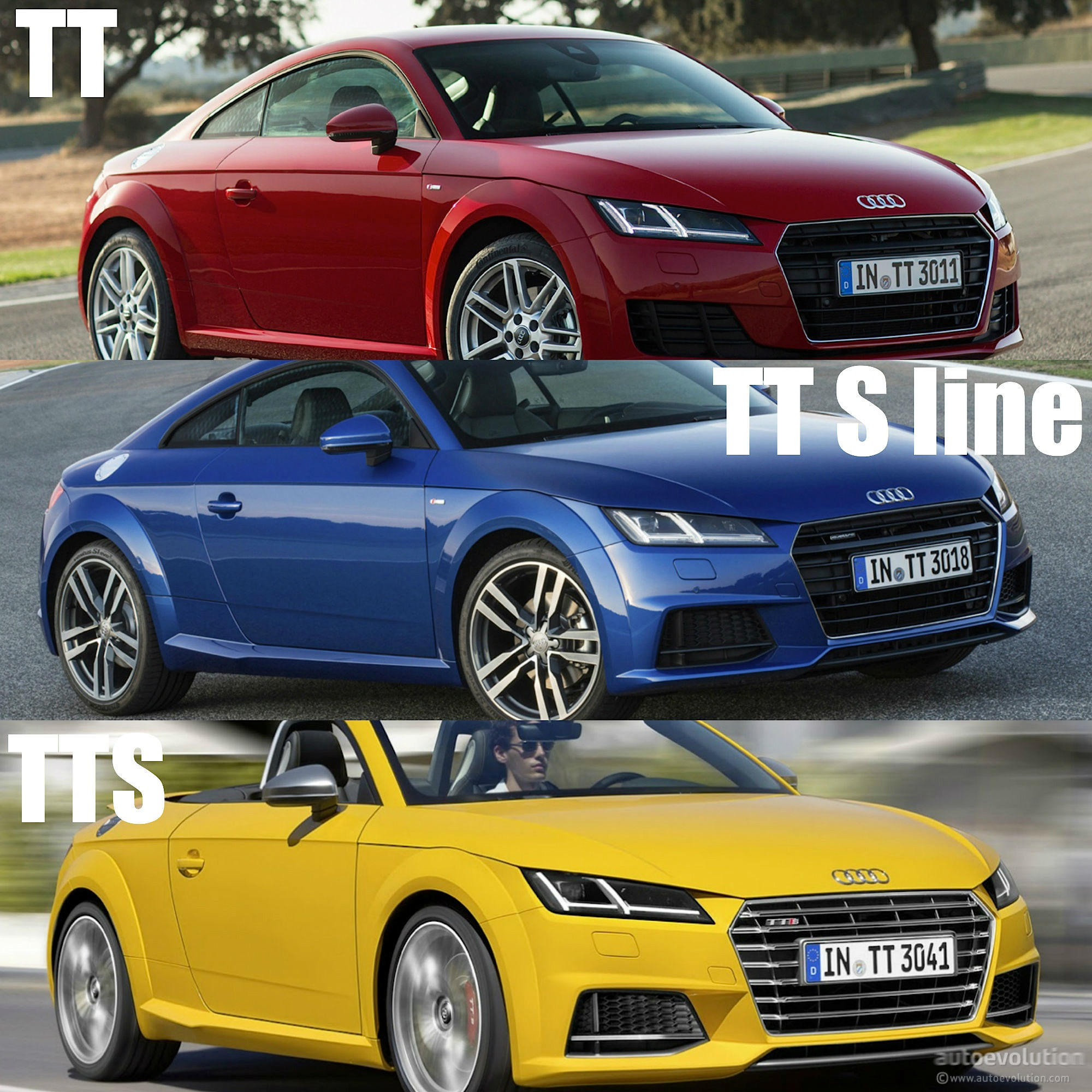 2015 audi tt tt s line and tts how to tell them apart. Black Bedroom Furniture Sets. Home Design Ideas