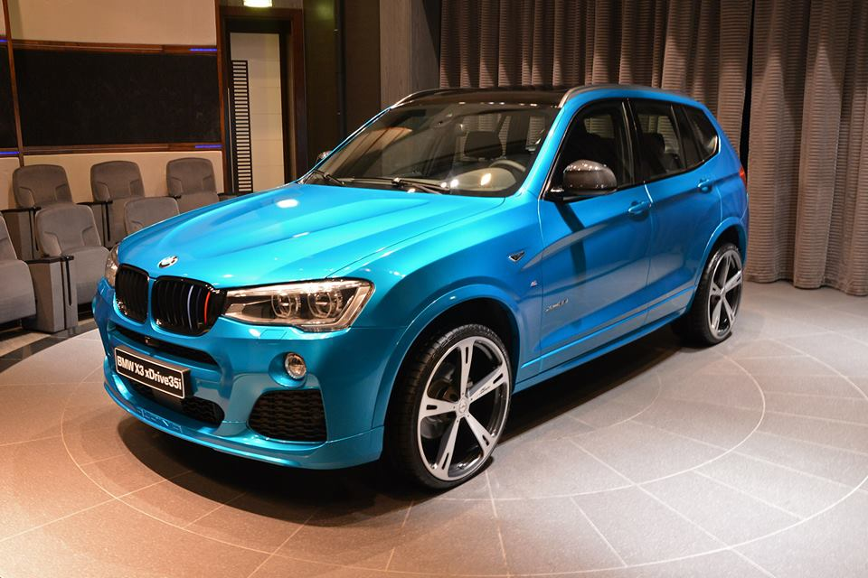 BMW X In Abu Dhabi Is A Mixture Of Tuning Styles Autoevolution - Blue bmw x3