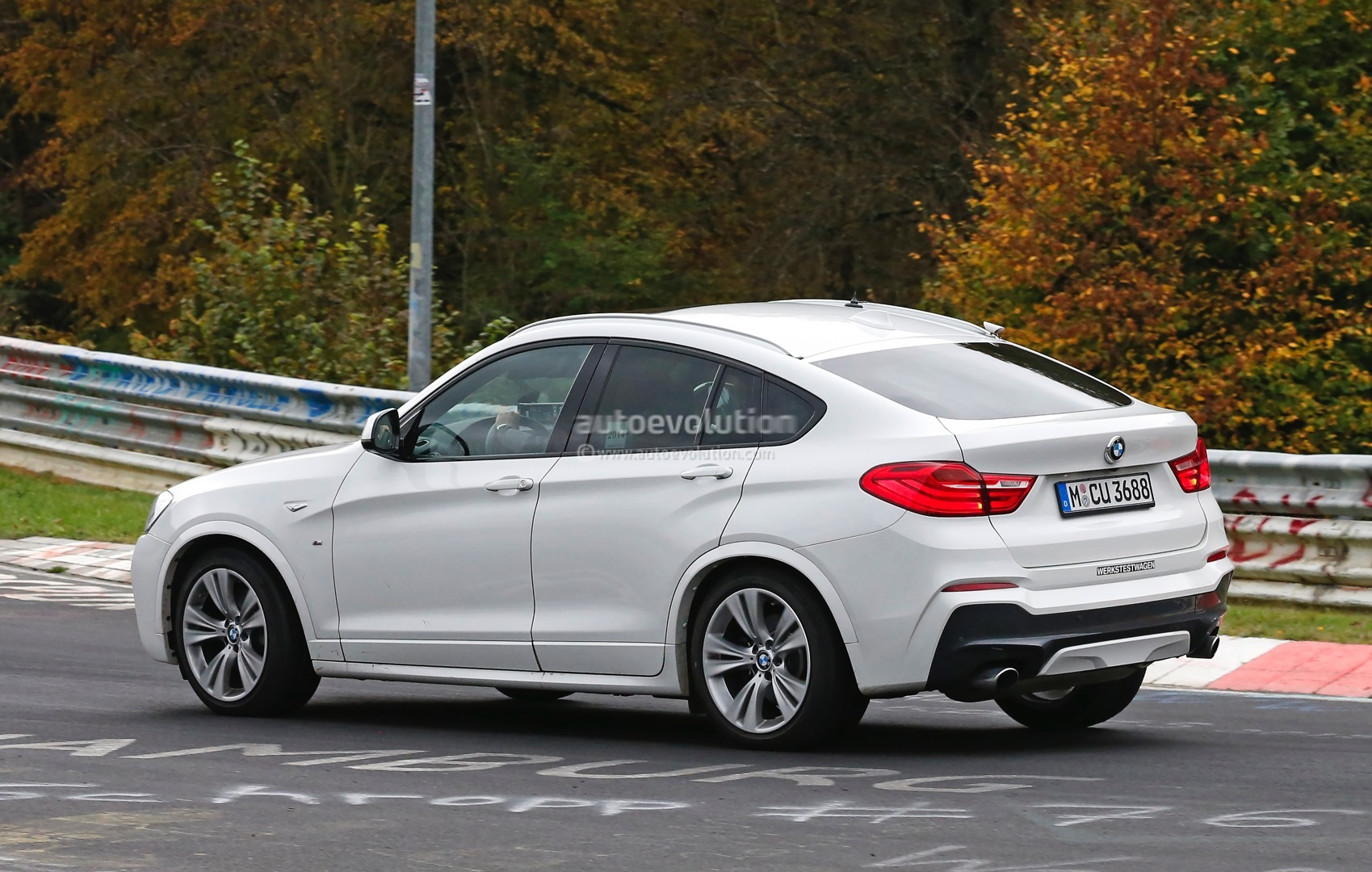 2015 bmw x4 m40i spotted camo free on the nurburgring autoevolution. Black Bedroom Furniture Sets. Home Design Ideas