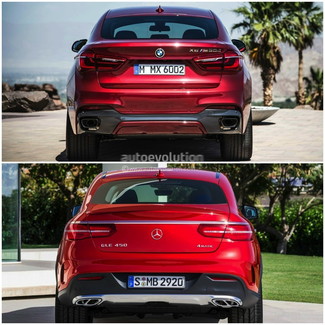 Bmw X6 S: 2015 BMW X6 Vs Mercedes-Benz GLE Coupe: The Battle Of The