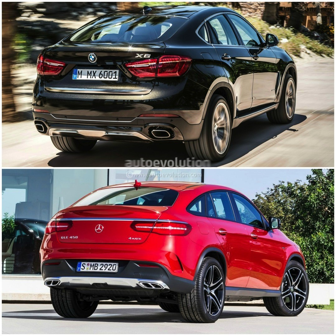 2015 bmw x6 vs mercedes benz gle coupe the battle of the sport activity coupes autoevolution. Black Bedroom Furniture Sets. Home Design Ideas