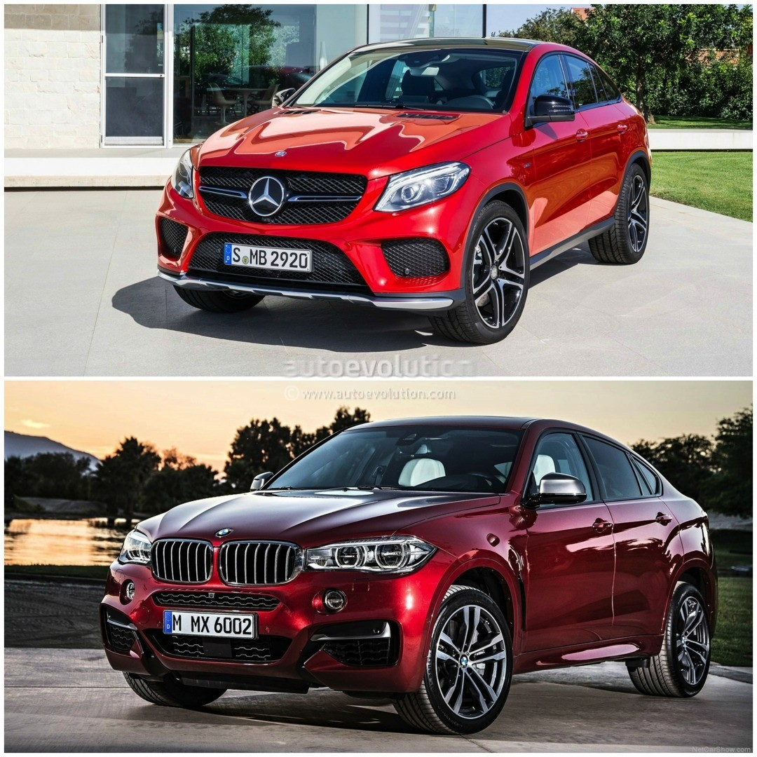 2015 bmw x6 vs mercedes benz gle coupe the battle of the for Mercedes benz x6