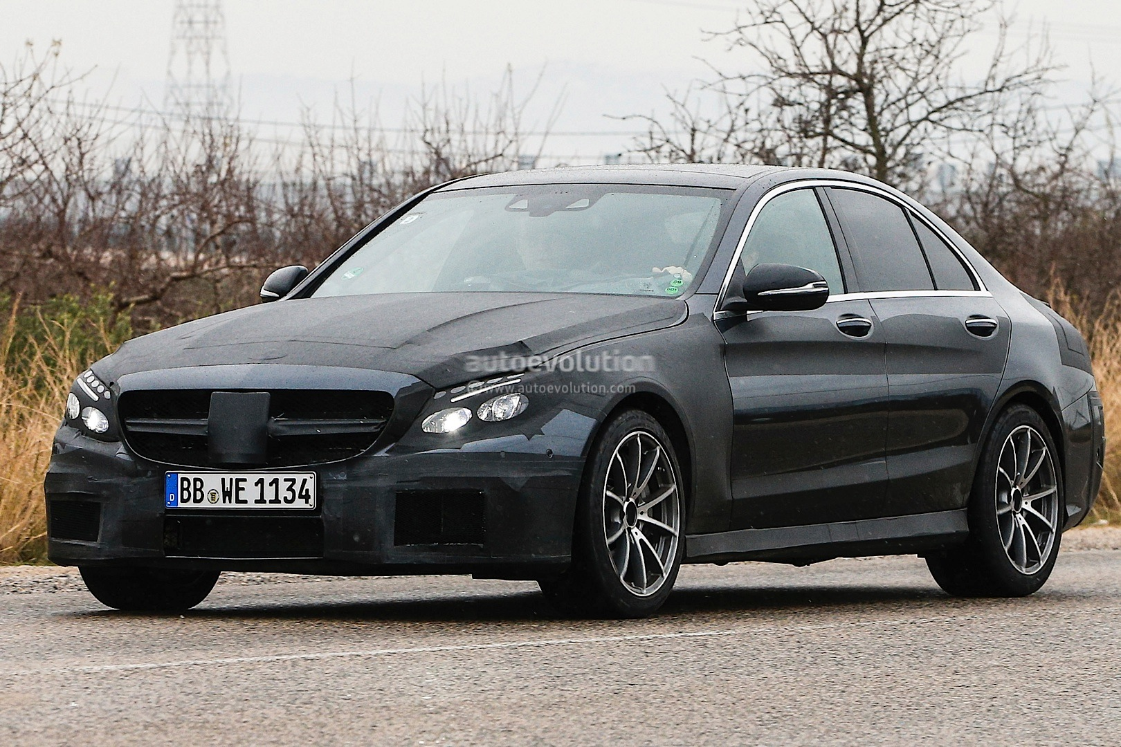 2015 c 63 amg w205 spied in spain photo gallery for Mercedes benz espana
