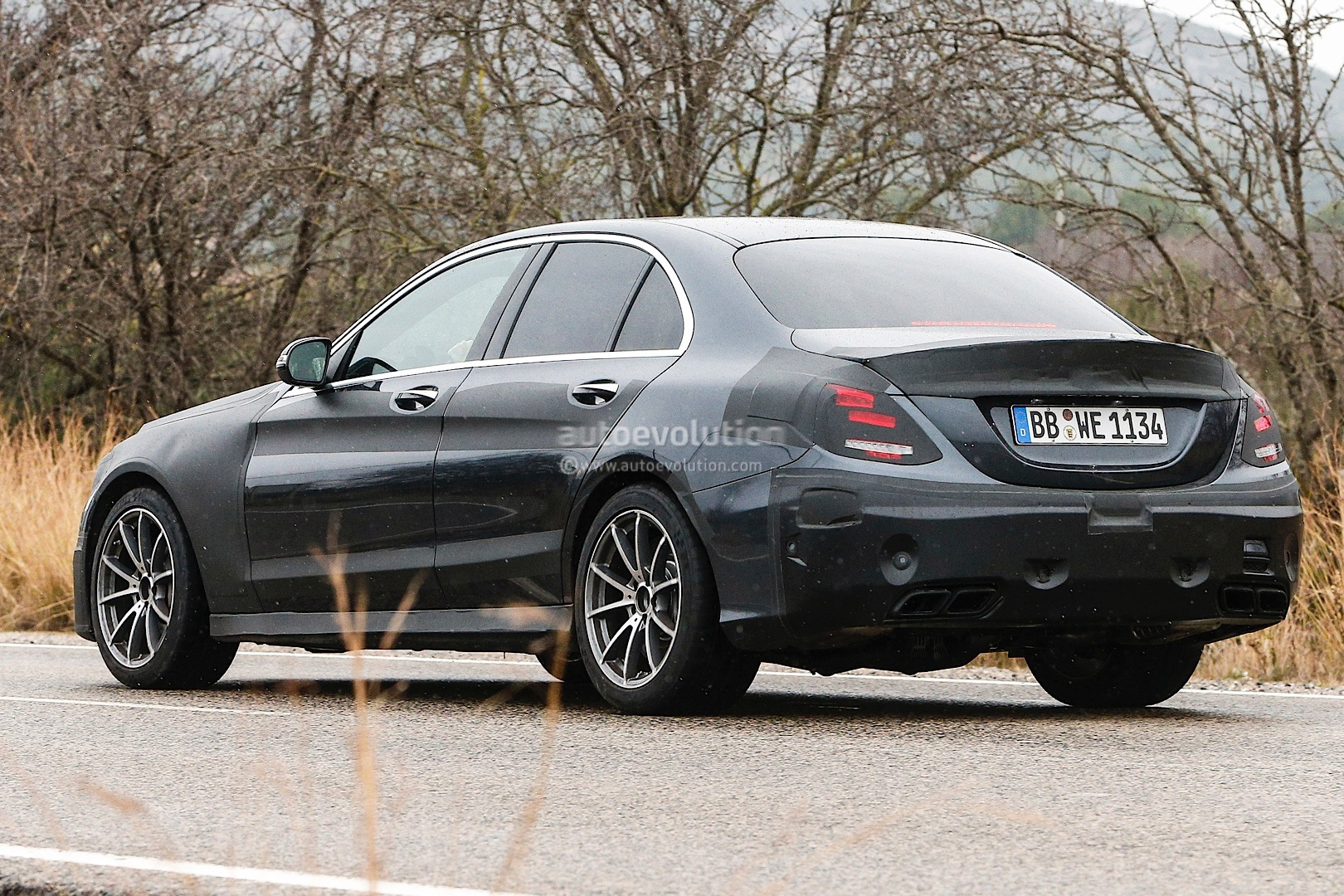 2015 c 63 amg w205 spied in spain photo gallery for Mercedes benz w205