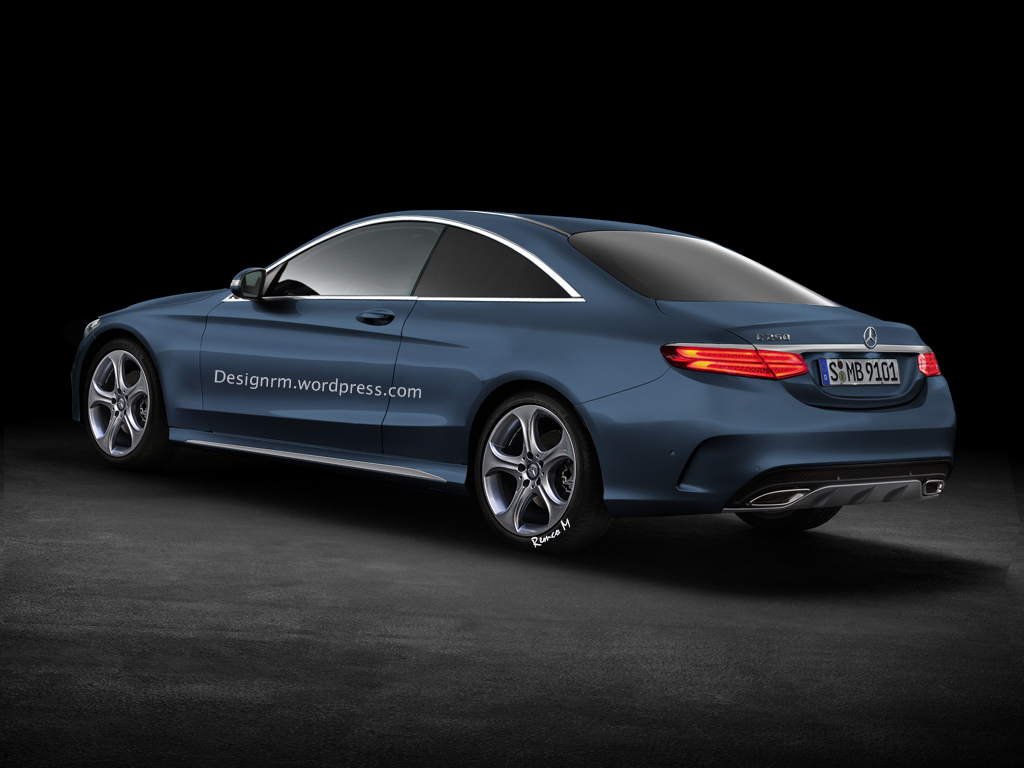2015 c-class coupe c205 gets better rendering - autoevolution