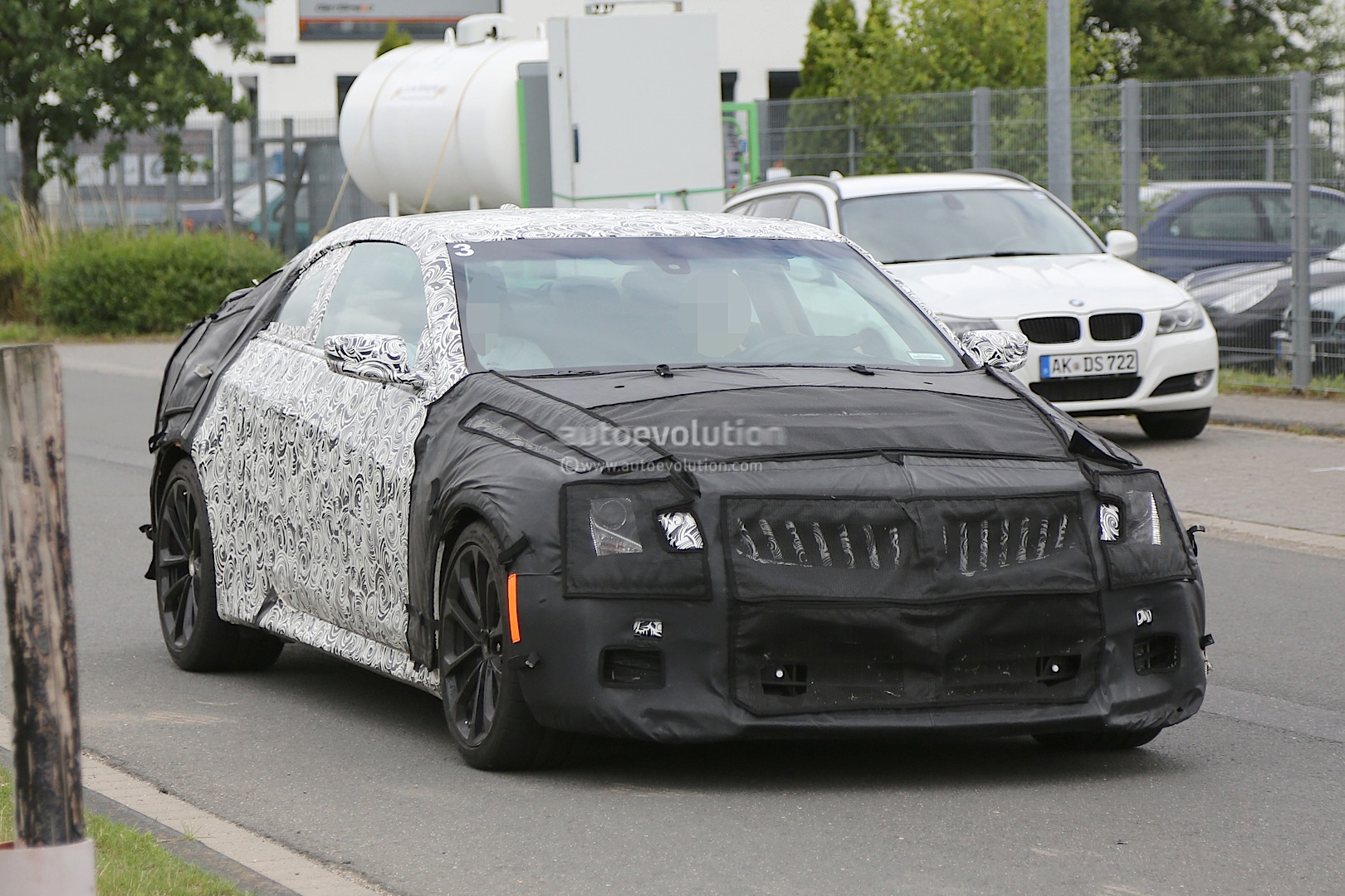 2015 cadillac ats v coupe spied near the nurburgring. Black Bedroom Furniture Sets. Home Design Ideas