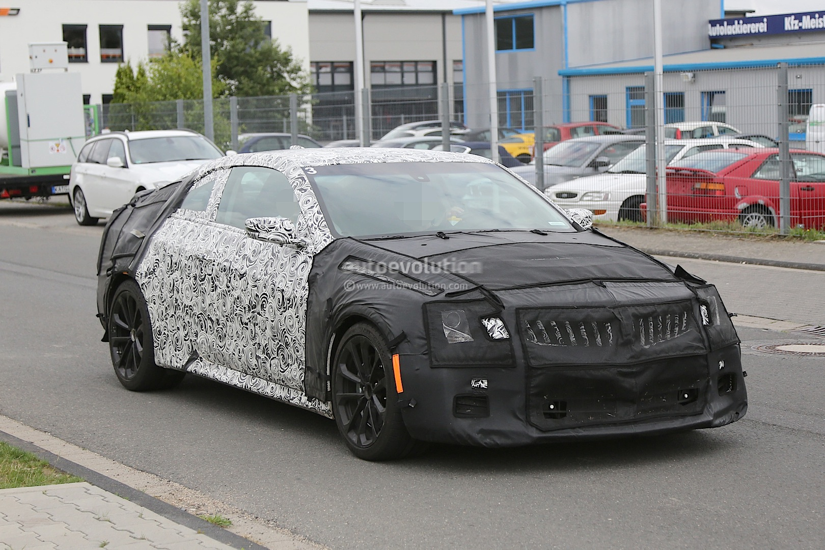 2015 cadillac ats v coupe spied near the nurburgring nordschleife autoevolution. Black Bedroom Furniture Sets. Home Design Ideas