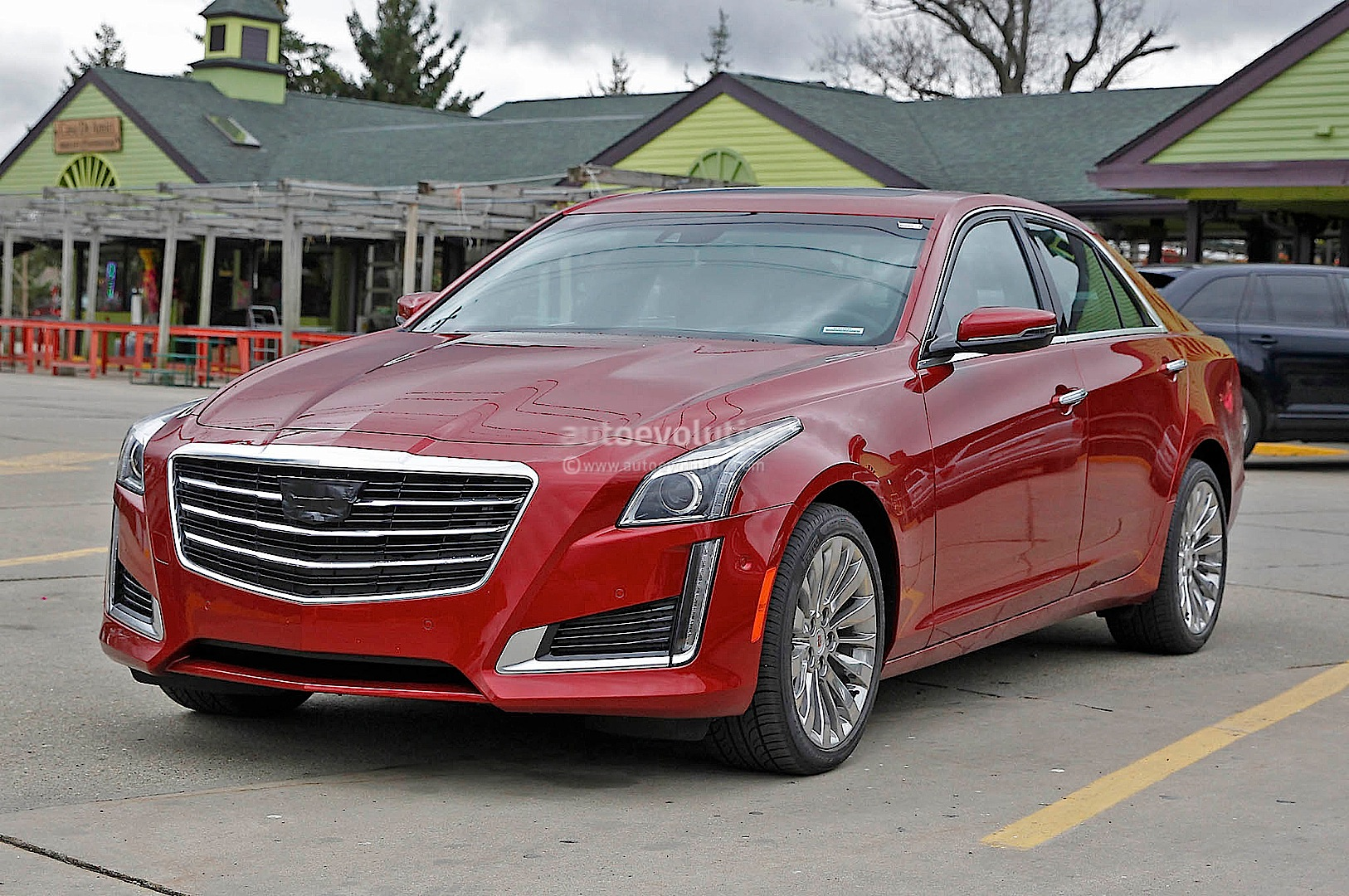 2015 cadillac cts spied without camo. Black Bedroom Furniture Sets. Home Design Ideas