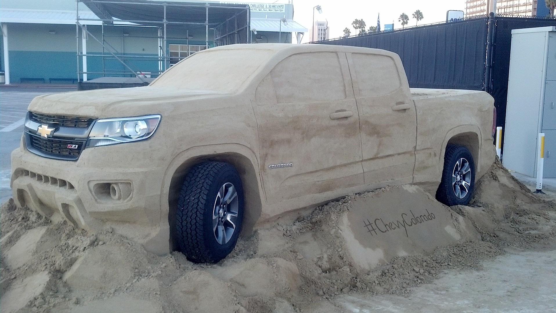 Chevrolet Colorado Z71 >> 2015 Chevrolet Colorado Gets a Sand Sculpture - autoevolution