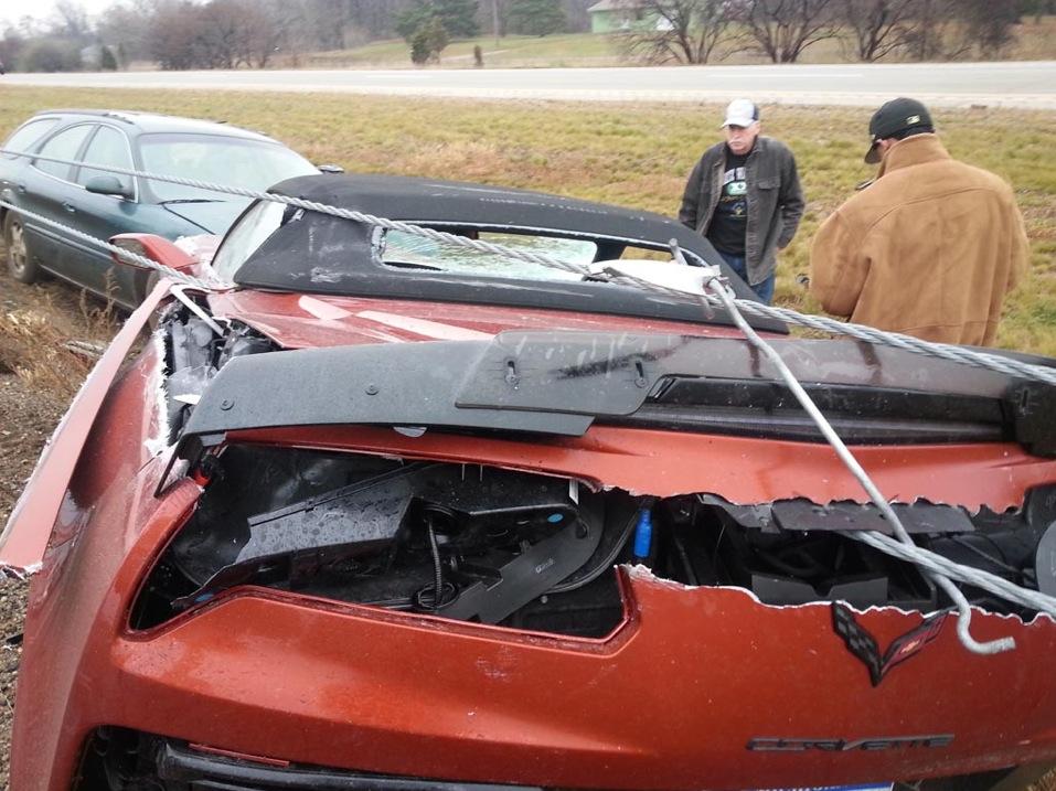 Car Crash On I  In Michigan