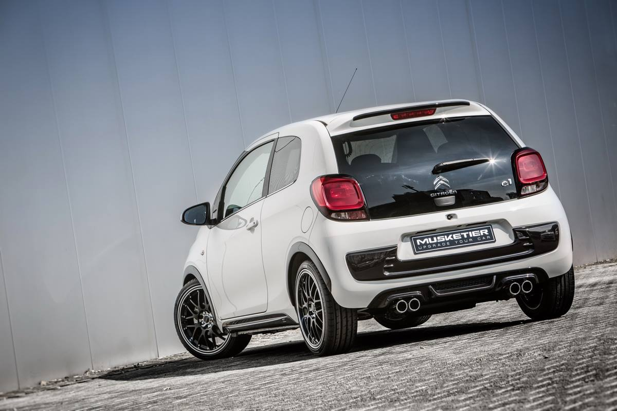 2015 citroen c1 gets quad exhaust in musketier tuning for Auto interieur tuning