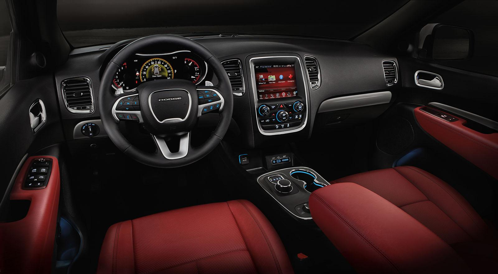 2015 Dodge Durango Radar Red Nappa Leather Seats Now ... Dodge Charger 2017 Interior Sxt