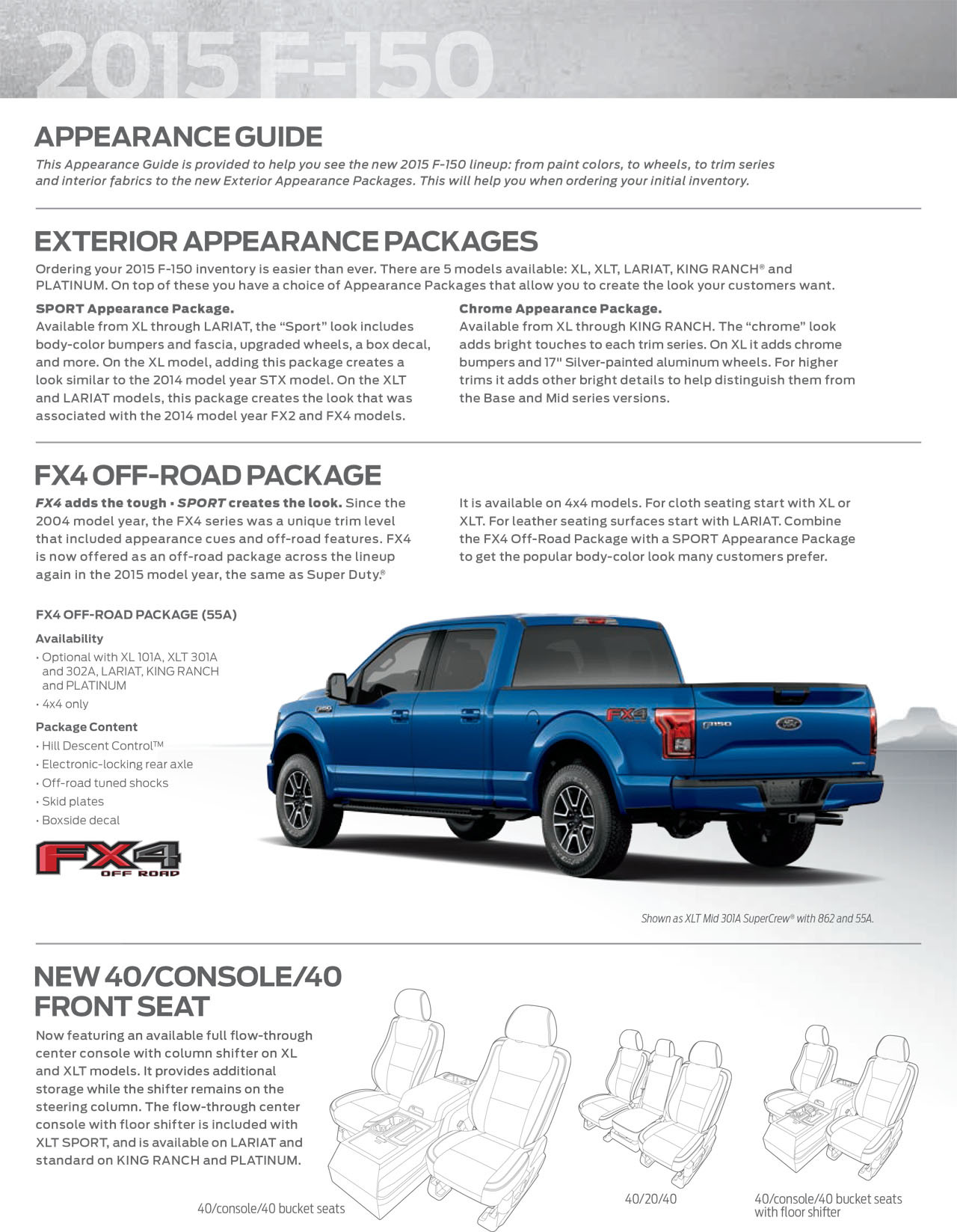 ... 2015 Ford F-150 appearance guide ...