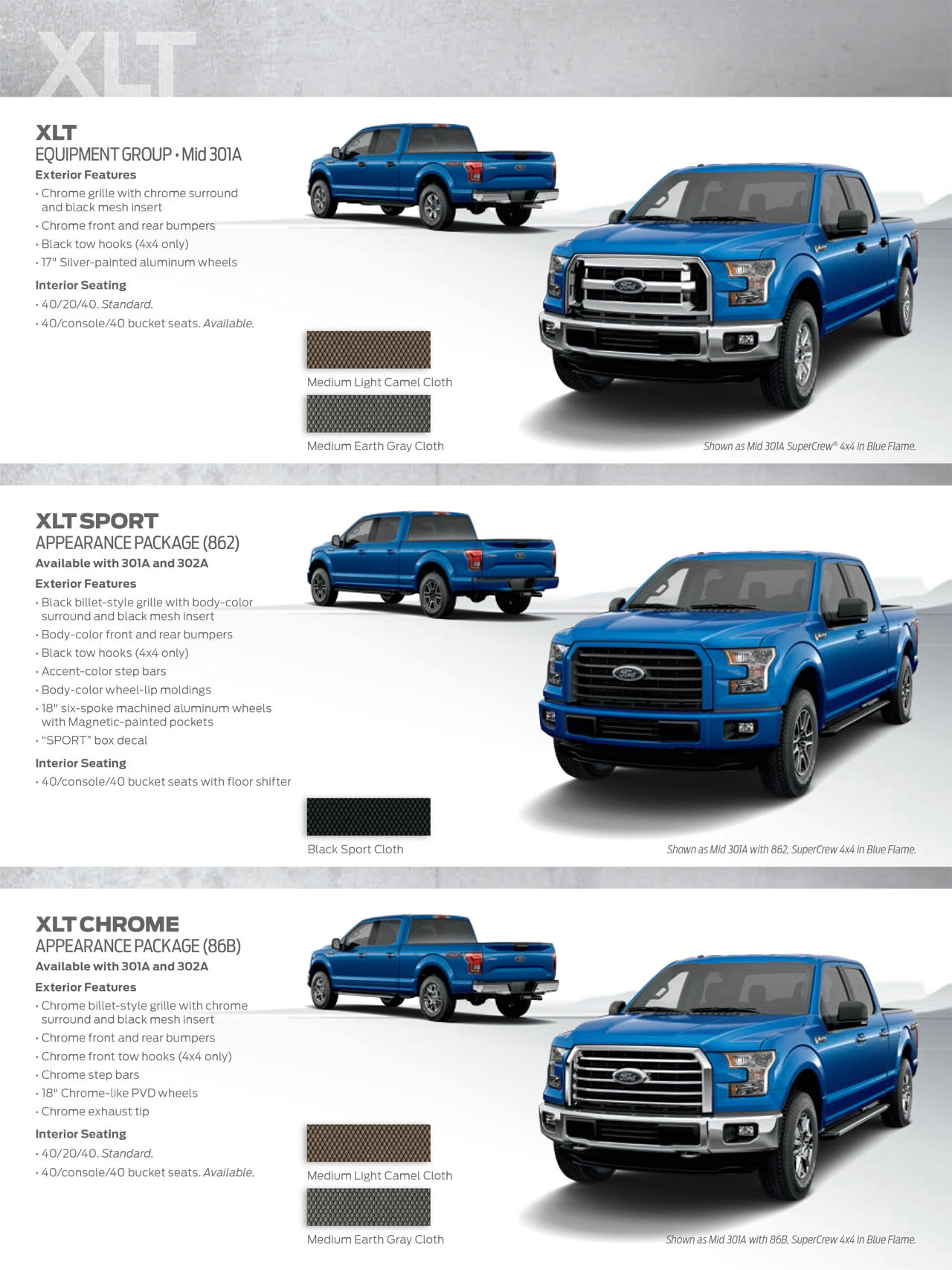 Ford F 150 Trim Levels >> 2015 Ford F 150 Shows Its Styling Potential With New Appearance