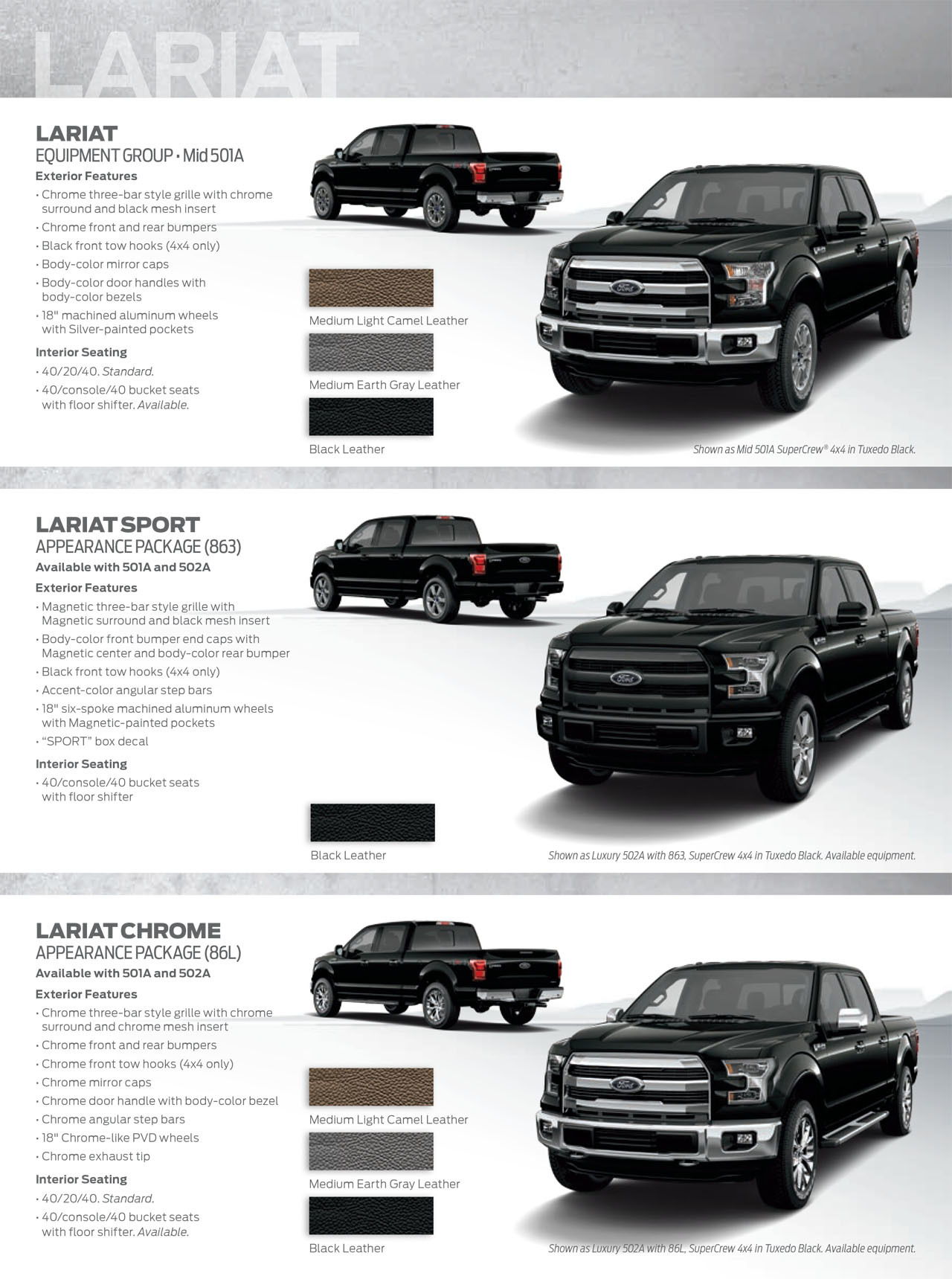 2015 ford f 150 shows its styling potential with new appearance guide. Black Bedroom Furniture Sets. Home Design Ideas