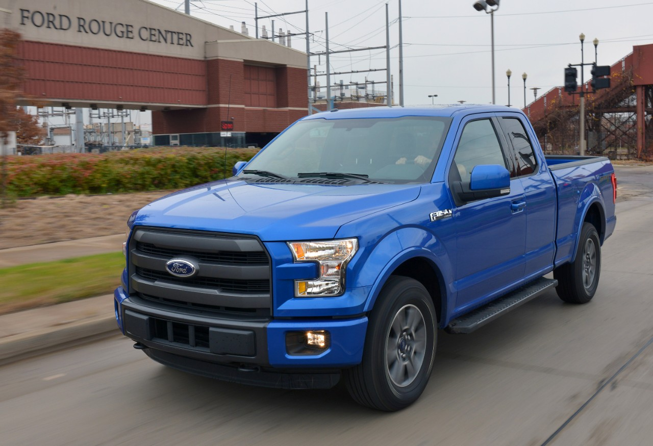 2015 ford f 150 at the ford rouge center
