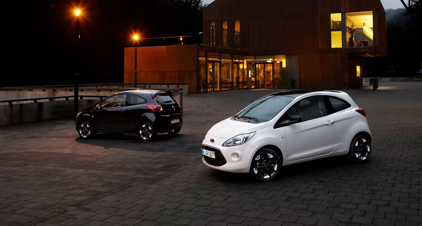 2015 ford fiesta black white editions detailed ka gets similar treatment autoevolution. Black Bedroom Furniture Sets. Home Design Ideas