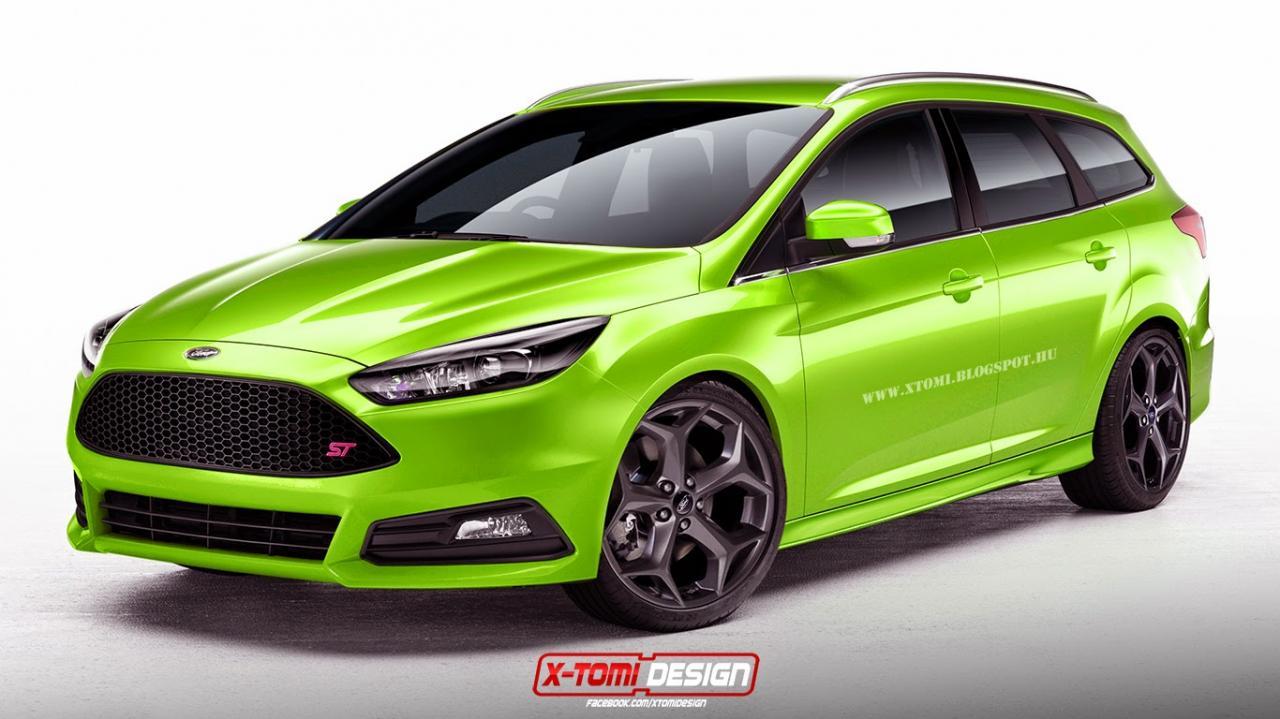 2015 ford focus st sedan rendering 2015 ford focus st wagon rendering