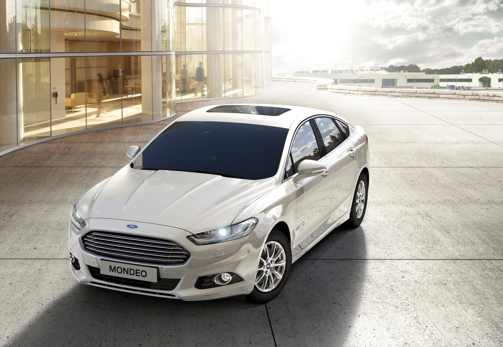 Ford Mondeo 2015 White >> 2015 Ford Mondeo Hybrid Entered Production in Spain, Pricing Announced - autoevolution