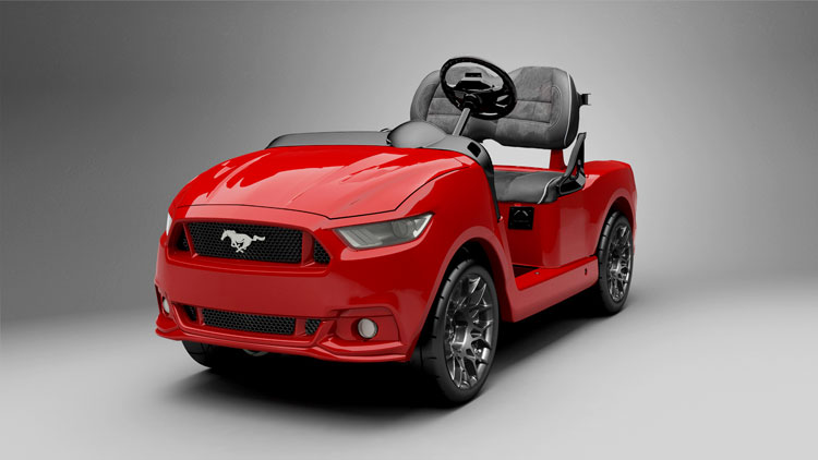2015 ford mustang golf cart costs car money autoevolution. Black Bedroom Furniture Sets. Home Design Ideas