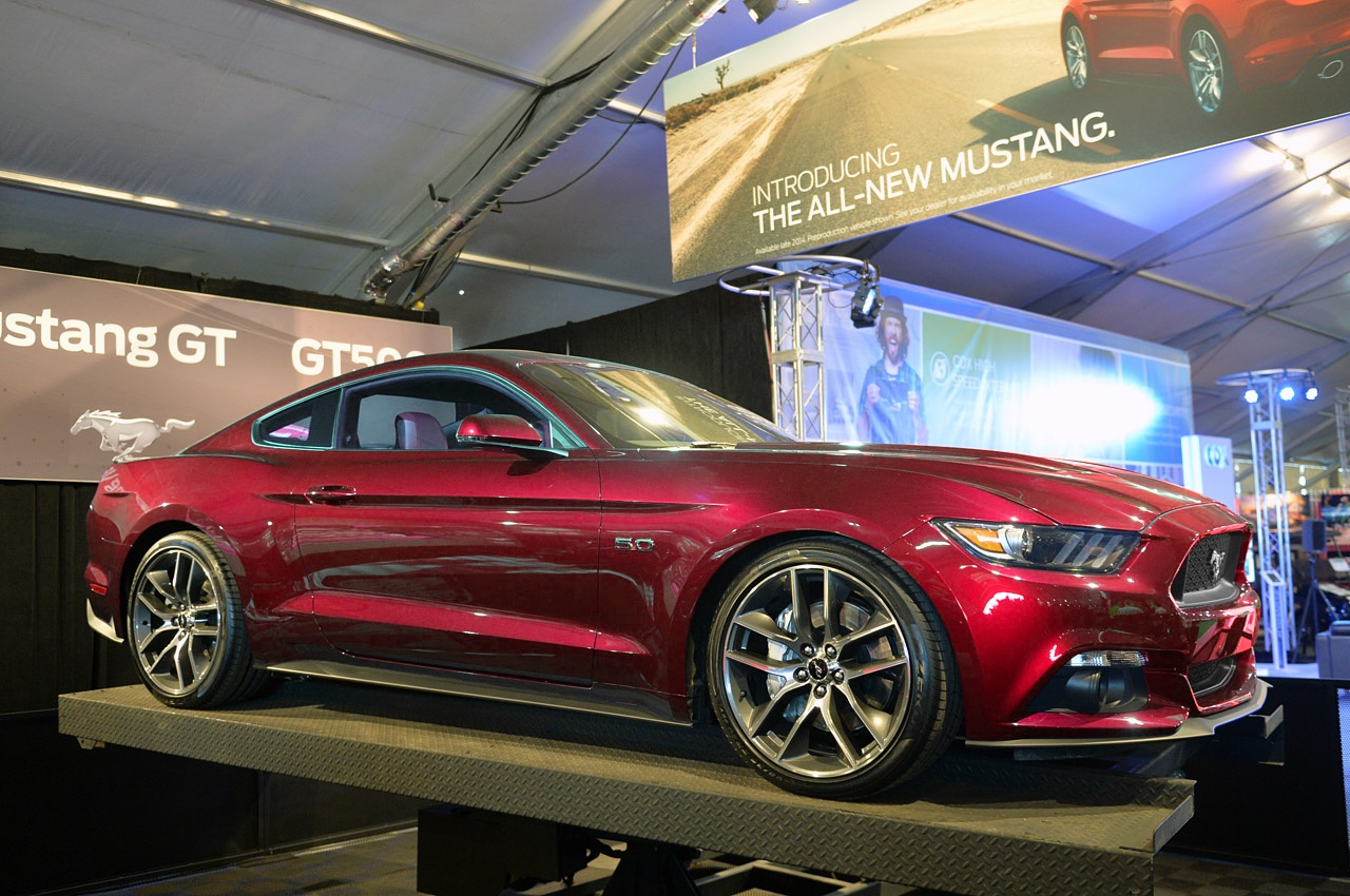 2015 Ford Mustang in Ruby Red - photo gallery
