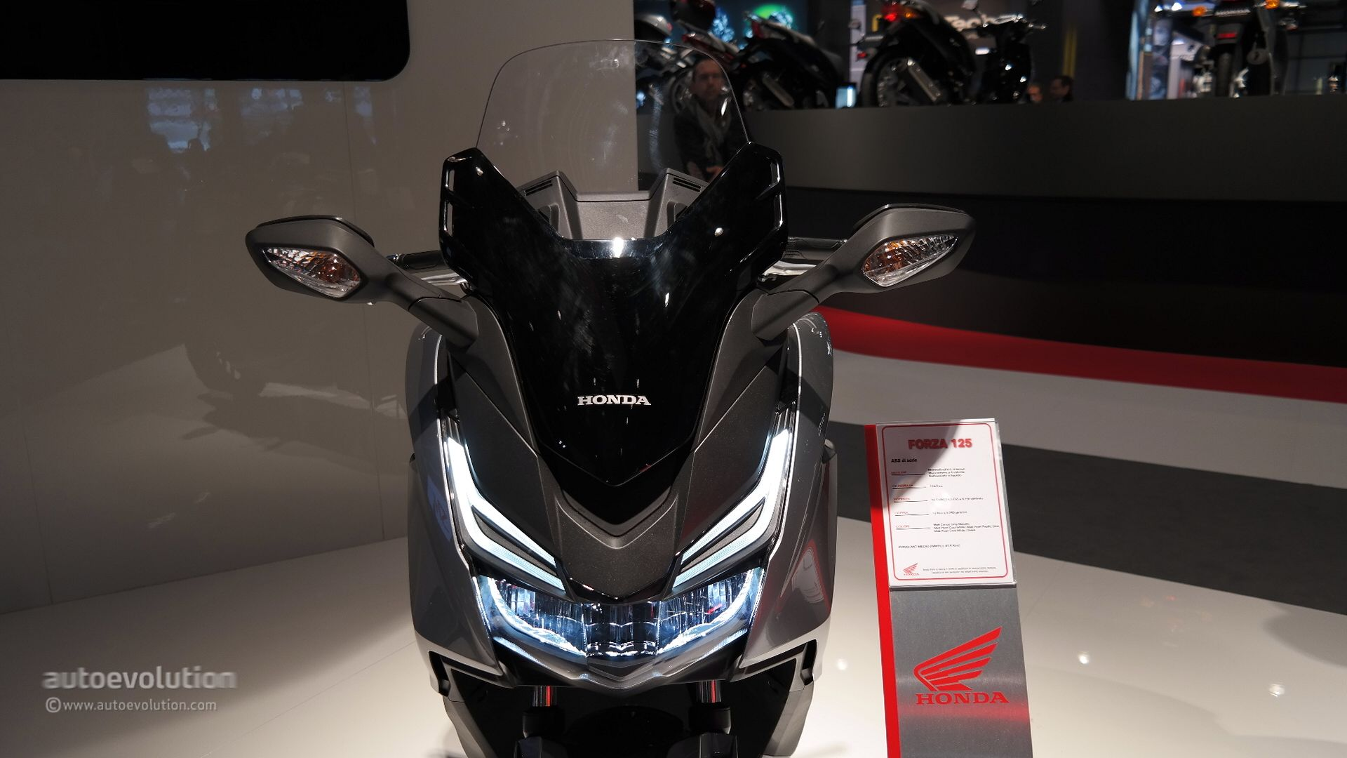 Honda Forza Shows Fresh Led Lights At Eicma Live Photos