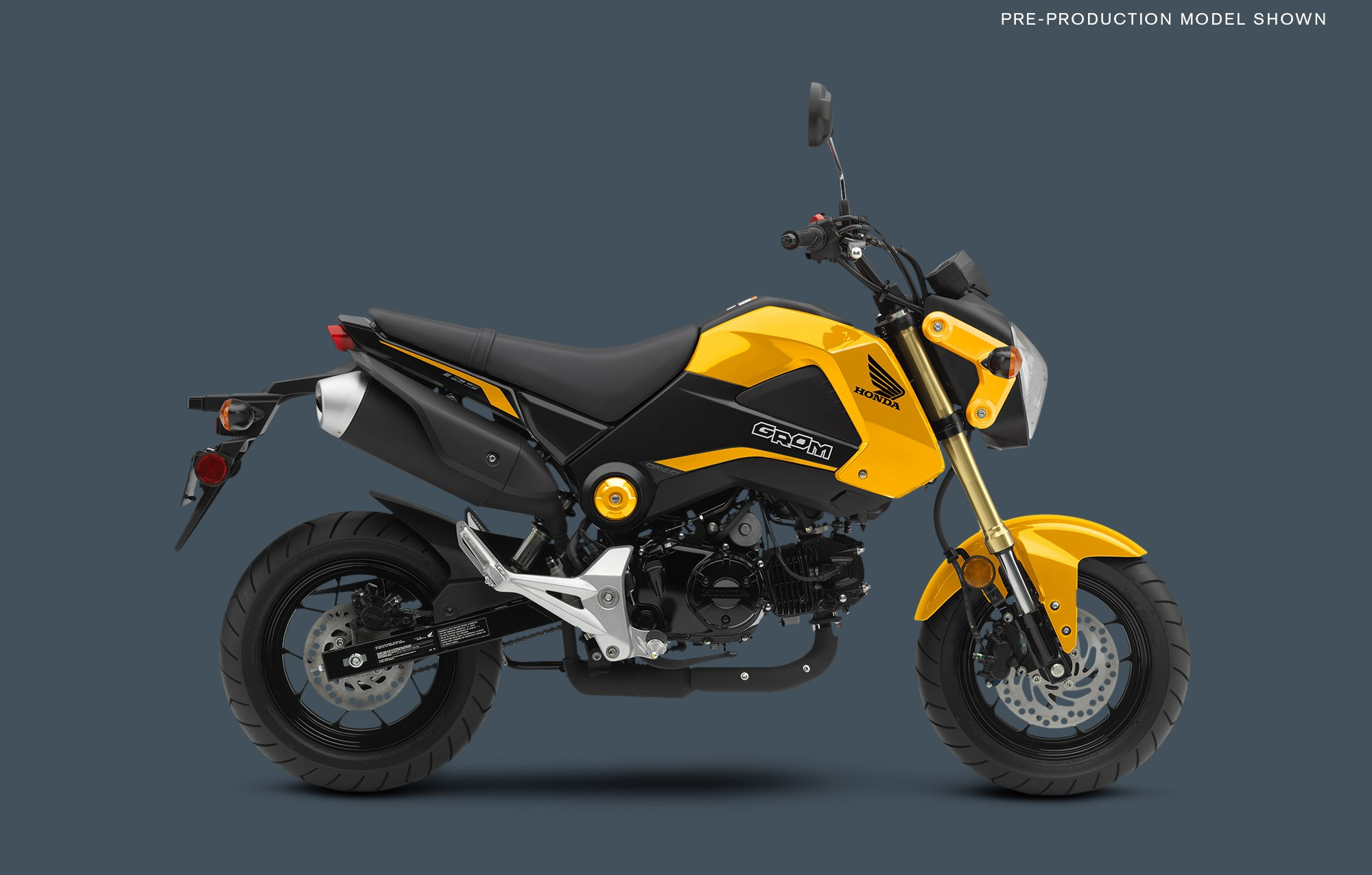 2015 Honda Grom In Yellow Trim