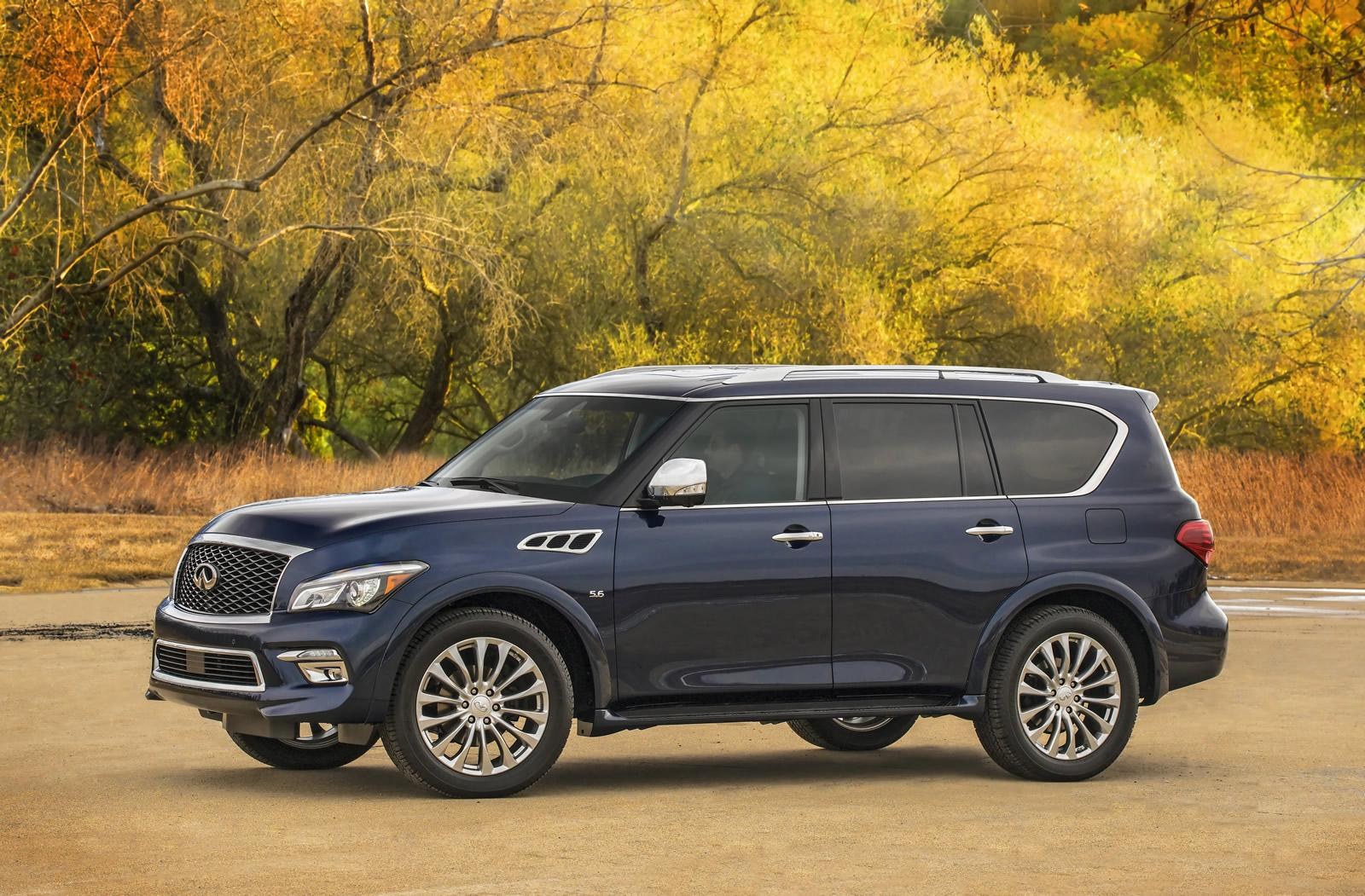 2015 infiniti qx80 shows its fresh face in new york autoevolution. Black Bedroom Furniture Sets. Home Design Ideas
