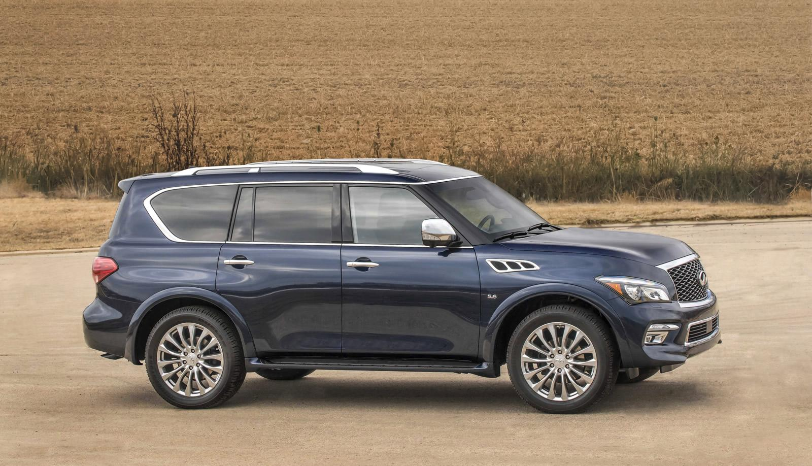 2015 infiniti qx80 shows its fresh face in new york. Black Bedroom Furniture Sets. Home Design Ideas