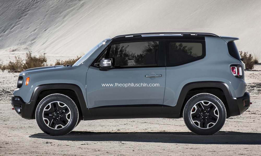 2015 jeep renegade 3 door rendering autoevolution. Black Bedroom Furniture Sets. Home Design Ideas