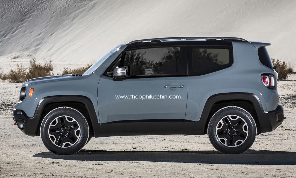 Difference Between Wrangler Models >> 2015 Jeep Renegade 3-Door Rendering - autoevolution