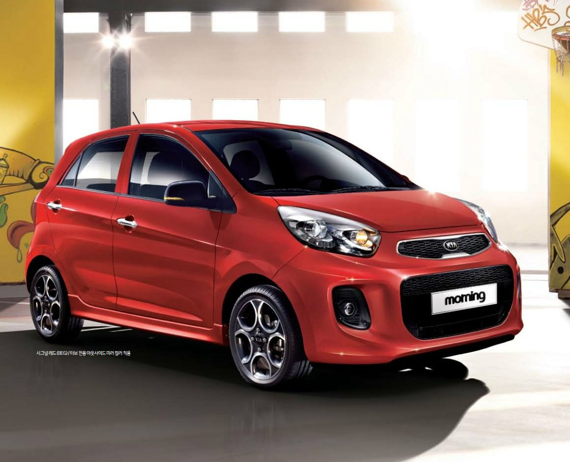 2015 Kia Picanto Kia Morning Facelift Breaks Cover In