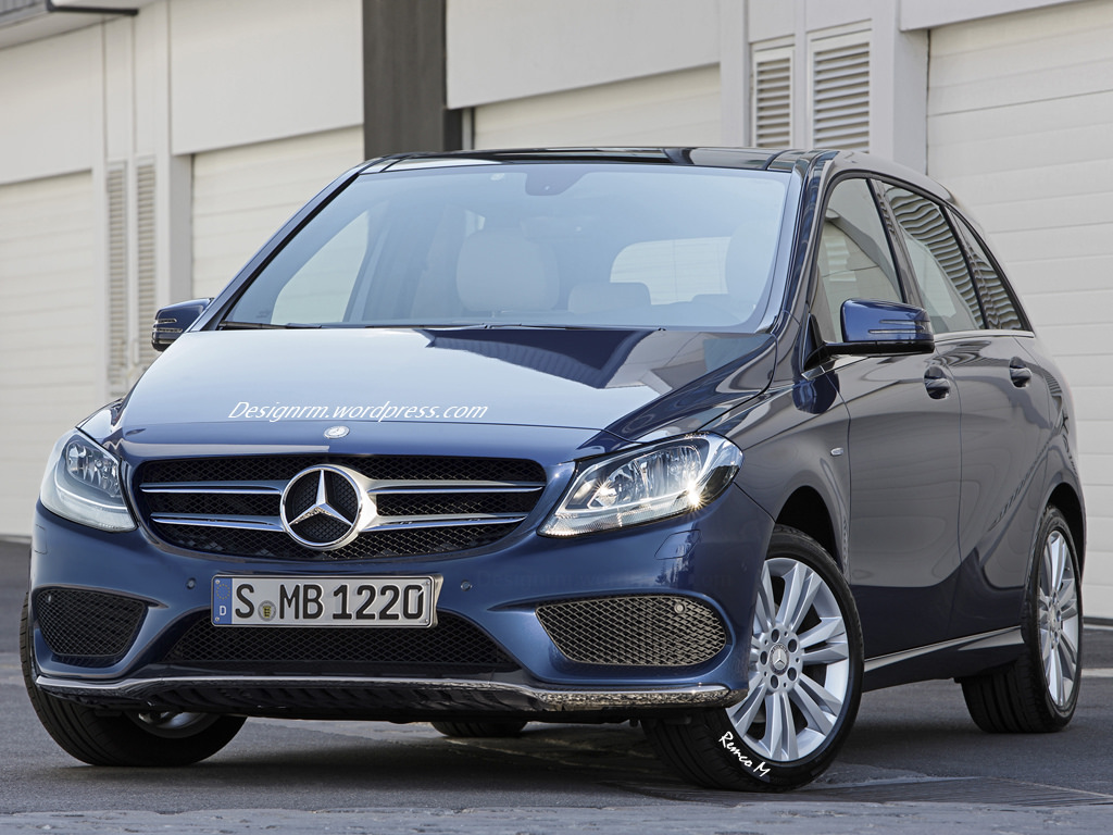 2015 mercedes b class facelift w246 rendered ahead of october debut autoevolution. Black Bedroom Furniture Sets. Home Design Ideas