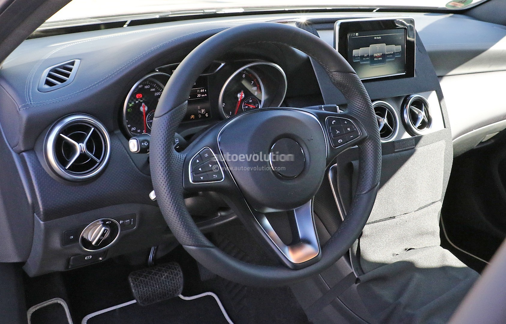 2015 Mercedes Benz A Class Facelift Interior Spied