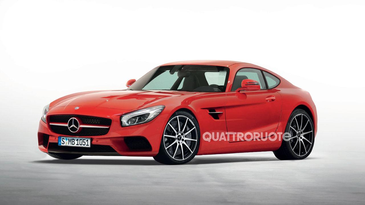 2015 mercedes benz amg gt c190 gets italian rendering autoevolution. Black Bedroom Furniture Sets. Home Design Ideas
