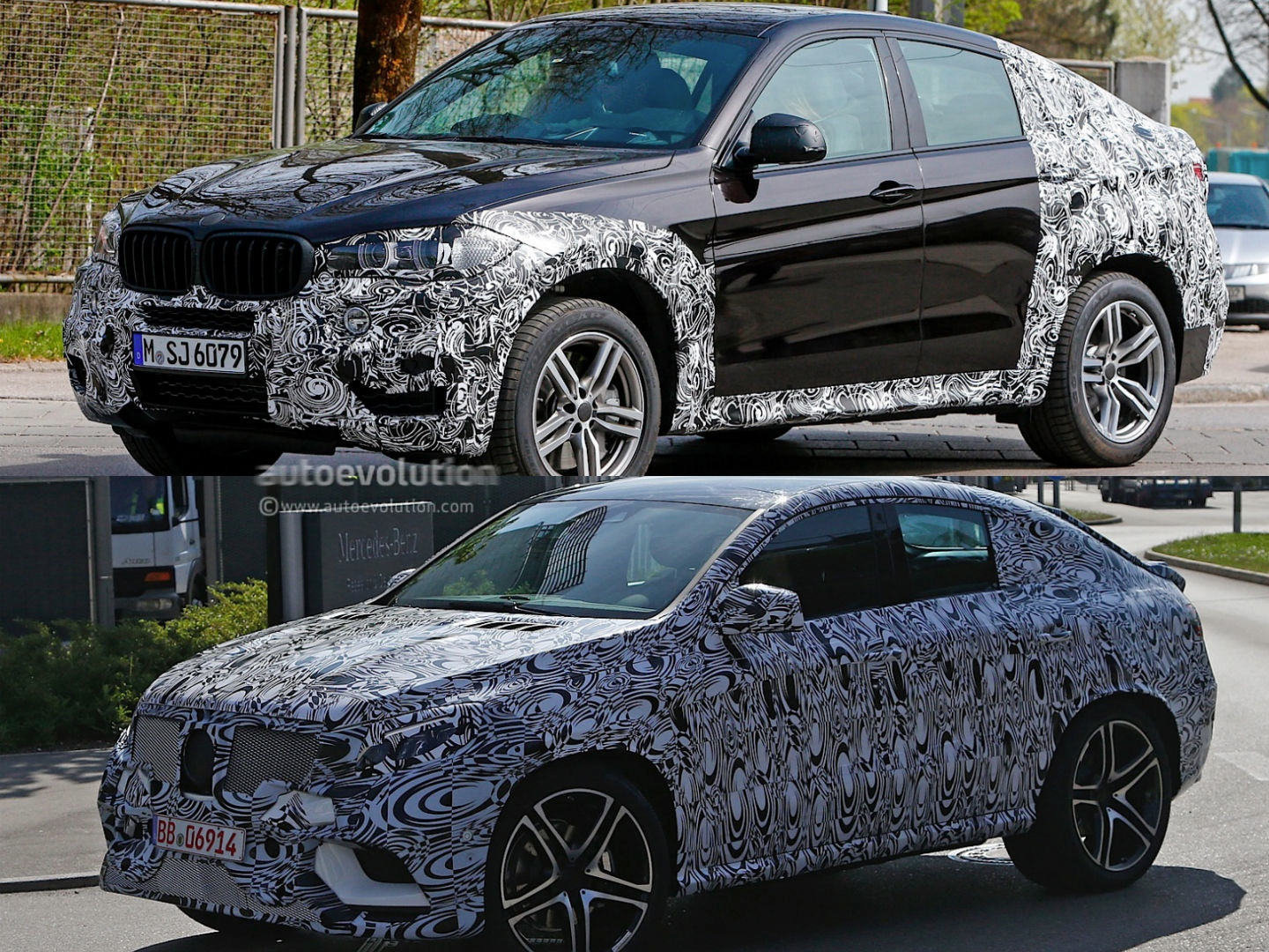 2015 mercedes benz mlc vs 2015 bmw x6 spyshots autoevolution. Black Bedroom Furniture Sets. Home Design Ideas